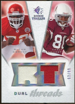 2008 Upper Deck SP Rookie Threads Dual Threads #DTDD Glenn Dorsey Early Doucet /99