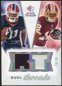 2008 Upper Deck SP Rookie Threads Dual Threads #DTHK James Hardy Malcolm Kelly /99