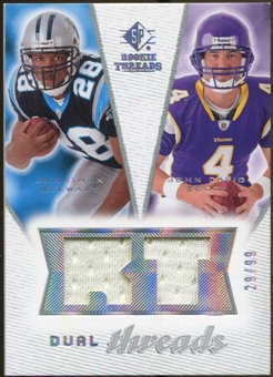 2008 Upper Deck SP Rookie Threads Dual Threads #DTJJ Jonathan Stewart John David Booty /99
