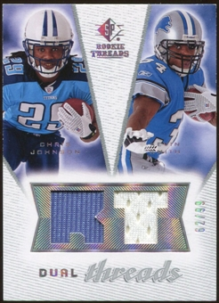 2008 Upper Deck SP Rookie Threads Dual Threads #DTJS Chris Johnson Kevin Smith /99