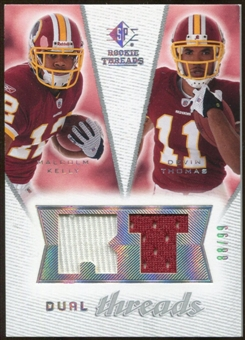 2008 Upper Deck SP Rookie Threads Dual Threads #DTKT Malcolm Kelly Devin Thomas /99