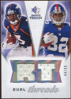 2008 Upper Deck SP Rookie Threads Dual Threads #DTMR Eddie Royal Mario Manningham /99
