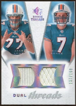 2008 Upper Deck SP Rookie Threads Dual Threads #DTCM Jake Long Chad Henne /160
