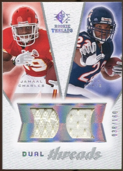 2008 Upper Deck SP Rookie Threads Dual Threads #DTFC Jamaal Charles Matt Forte /160