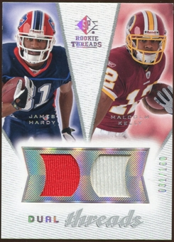 2008 Upper Deck SP Rookie Threads Dual Threads #DTHK James Hardy Malcolm Kelly /160