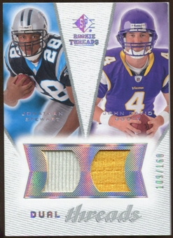 2008 Upper Deck SP Rookie Threads Dual Threads 160 #DTJJ Jonathan Stewart/John David Booty /160