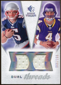 2008 Upper Deck SP Rookie Threads Dual Threads 160 #DTOB Kevin O'Connell/John David Booty /160