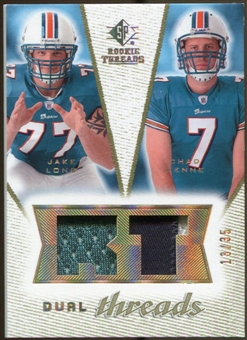 2008 Upper Deck SP Rookie Threads Dual Threads Patch #DTCM Jake Long Chad Henne /35