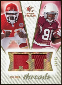 2008 Upper Deck SP Rookie Threads Dual Threads Patch/35 #DTDD Glenn Dorsey Early Doucet /35