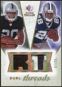 2008 Upper Deck SP Rookie Threads Dual Threads Patch #DTDF Darren McFadden Felix Jones /35