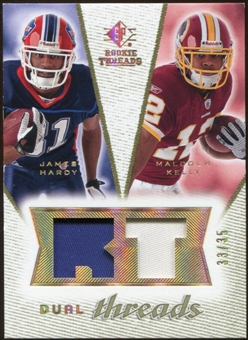 2008 Upper Deck SP Rookie Threads Dual Threads Patch #DTHK James Hardy Malcolm Kelly /35