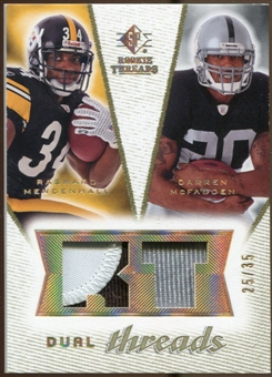 2008 Upper Deck SP Rookie Threads Dual Threads Patch #DTMM Rashard Mendenhall/Darren McFadden /35