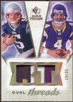 2008 Upper Deck SP Rookie Threads Dual Threads Patch 35 #DTOB Kevin O'Connell/John David Booty /35