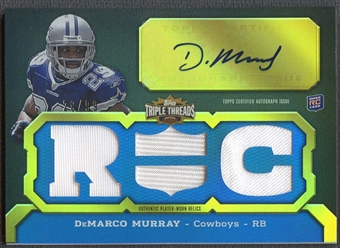 2011 Topps Triple Threads #134 DeMarco Murray Rookie Jersey Auto #29/99