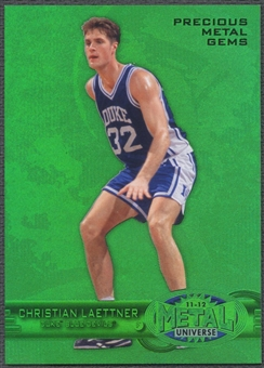 2011/12 Fleer Retro #7 Christian Laettner Precious Metal Gems Green #07/10