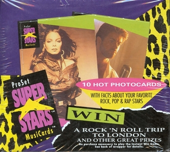 Super Stars MusiCards Box (Pro Set 1991)