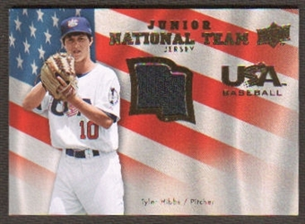 2008 Upper Deck USA Junior National Team Jerseys #HI Tyler Hibbs