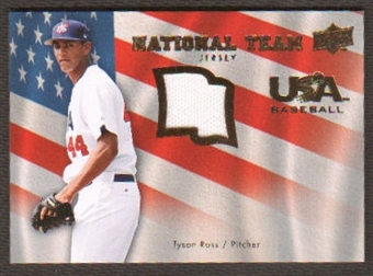 2008 Upper Deck USA National Team Jerseys #TR Tyson Ross