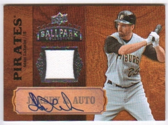 2008 Upper Deck Ballpark Collection Jersey Autographs #4 Adam LaRoche Autograph