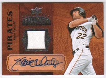 2008 Upper Deck Ballpark Collection Jersey Autographs #38 Xavier Nady Autograph