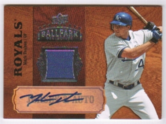 2008 Upper Deck Ballpark Collection Jersey Autographs #81 Mark Teahen Autograph