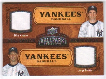 2008 Upper Deck Ballpark Collection #154 Mike Mussina Jorge Posada