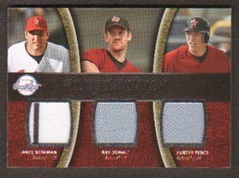 2008 Upper Deck Sweet Spot Swatches Triple #TBOP Lance Berkman/Roy Oswalt/Hunter Pence