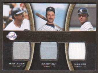 2008 Upper Deck Sweet Spot Swatches Triple #TJMJ Reggie Jackson Don Mattingly Derek Jeter