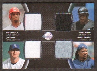 2008 Upper Deck Sweet Spot Swatches Quad #QGTTR Ken Griffey Jr./Frank Thomas/Jim Thome/Manny Ramirez
