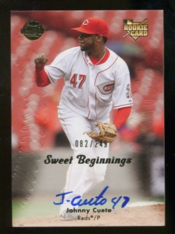 2008 Upper Deck Sweet Spot #131 Johnny Cueto RC Autograph /249