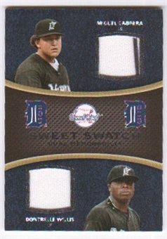 2008 Upper Deck Sweet Spot Swatches Dual #DCW Miguel Cabrera Dontrelle Willis