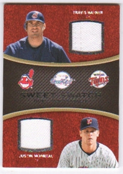 2008 Upper Deck Sweet Spot Swatches Dual #DHM Travis Hafner Justin Morneau