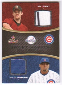 2008 Upper Deck Sweet Spot Swatches Dual #DOZ Roy Oswalt Carlos Zambrano