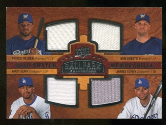 2008 Upper Deck Ballpark Collection #201 Prince Fielder Ben Sheets Matt Kemp James Loney
