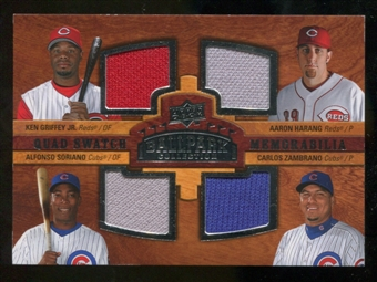 2008 Upper Deck Ballpark Collection #216 Ken Griffey Jr. Aaron Harang Alfonso Soriano Carlos Zambrano