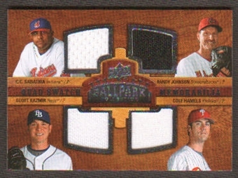 2008 Upper Deck Ballpark Collection #225 C.C. Sabathia Randy Johnson Scott Kazmir Cole Hamels