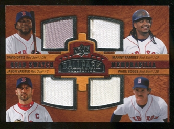 2008 Upper Deck Ballpark Collection #229 David Ortiz Manny Ramirez Jason Varitek Wade Boggs