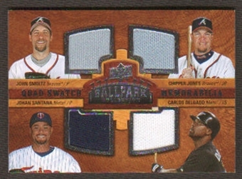 2008 Upper Deck Ballpark Collection #232 John Smoltz Chipper Jones Johan Santana Carlos Delgado