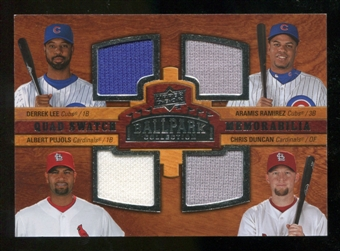 2008 Upper Deck Ballpark Collection #234 Derrek Lee Aramis Ramirez Albert Pujols Chris Duncan