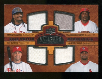 2008 Upper Deck Ballpark Collection #237 Manny Ramirez Vladimir Guerrero Pat Burrell Albert Pujols