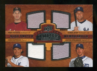 2008 Upper Deck Ballpark Collection #238 Andy Pettitte Derek Jeter Ivan Rodriguez Justin Verlander