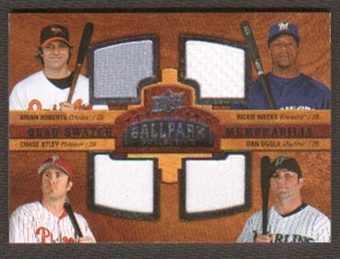 2008 Upper Deck Ballpark Collection #240 Brian Roberts Rickie Weeks Chase Utley Dan Uggla