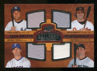 2008 Upper Deck Ballpark Collection #243 Derek Jeter Brian Roberts Michael Young Dan Uggla