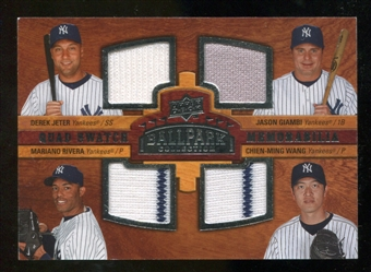 2008 Upper Deck Ballpark Collection #247 Derek Jeter Jason Giambi Mariano Rivera Chien-Ming Wang