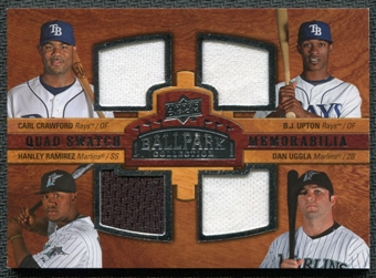 2008 Upper Deck Ballpark Collection #248 Carl Crawford B.J. Upton Hanley Ramirez Dan Uggla