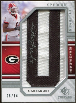 2009 Upper Deck SP Threads #201 Mohamed Massaquoi * Autograph /126