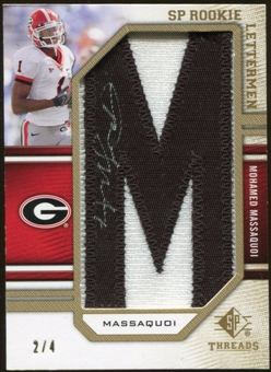 2009 Upper Deck SP Threads Rookie Lettermen Autographs Gold #201 Mohamed Massaquoi 2/4