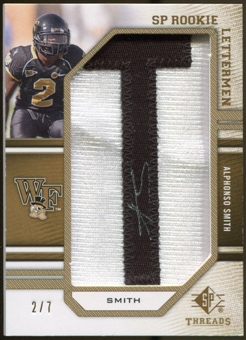 2009 Upper Deck SP Threads Rookie Lettermen Autographs Gold #252 Alphonso Smith* Autograph /35