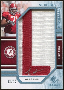 2009 Upper Deck SP Threads Rookie Lettermen College Autographs #204 Andre Smith* Autograph /84