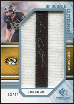 2009 Upper Deck SP Threads Rookie Lettermen College Autographs #211 Chase Coffman* Autograph /88
